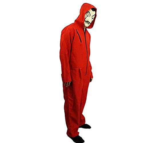Amazon.com: La Casa De Papel Salvador Dali Cosplay Movie Costume Red Coverall Halloween Costume (L): Clothing
