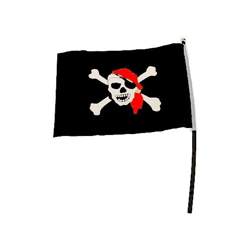 1 Piratenfahne am Stab