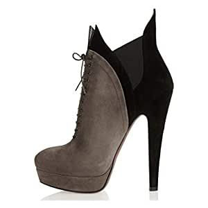 Amazon.com: Women's Booties, High Heel Ankle Boots Lace-up