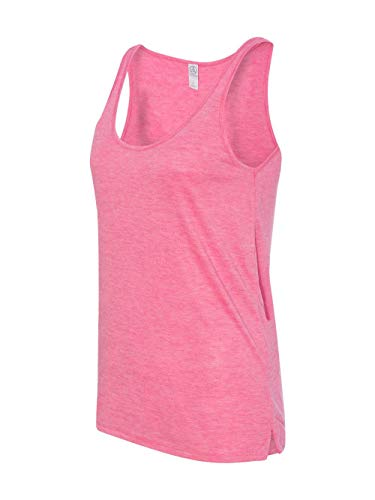 Alternative Women's Melange Burnout Jersey Airy Tank Top Rose Heather ()