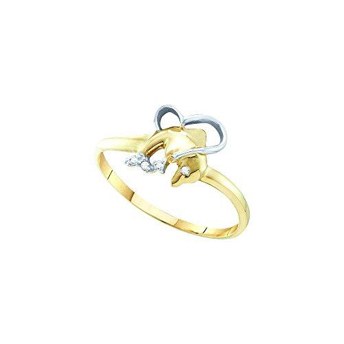 Diamond 10kt Yellow Accent Ring - 8