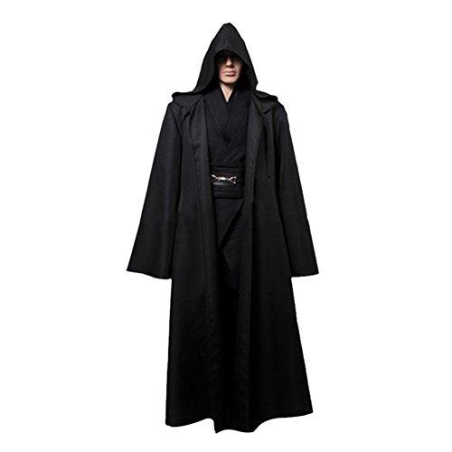 Timall Halloween Cloak Cosplay Hooded Robe Cloak Cape Adult Men Halloween Costume ()