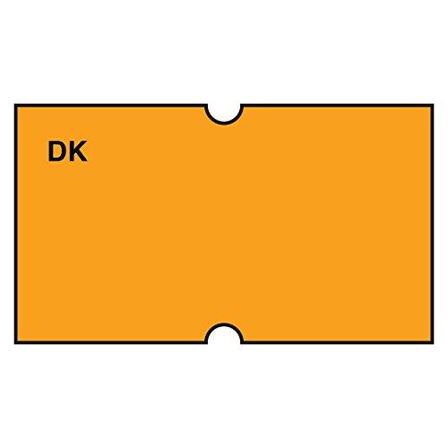 (DayMark Date Coder Blank Permanent Label, For DM3 SpeedyMark 10 1-Line Marking Gun, Florescent Orange (Pack of 8)