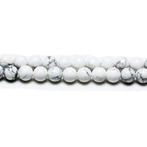 Bianco//Grigio Aulite 6mm Tondo Perline GS1564-2 Charming Beads Filo 60