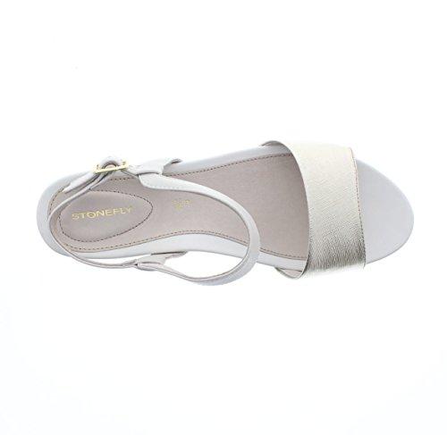 Stonefly - Sandalias de vestir para mujer Bianco