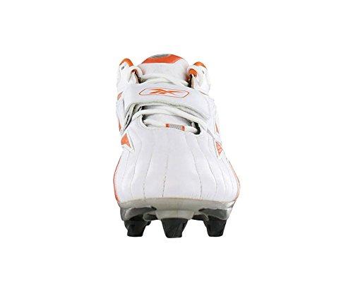 Reebok Hombres Nfl Full Blitz D Kfs Fútbol Cleat Blanco / Naranja-promo