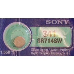 One (1) X Sony 341 SR714SW Silver Oxide Watch Battery 1.55v Blister -