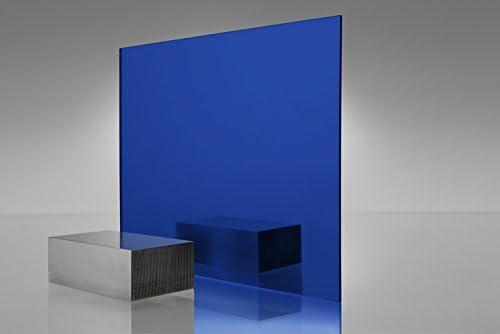 "1//8/""  2424 Transparent Blue Cell Cast Acrylic Sheet  12/"" x 12/"""