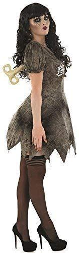 Ladies Sexy Grey Dead Rag Doll Halloween Fancy Dress Costume Outfit UK 8-22 Plus Size (UK 8-10)