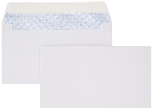AmazonBasics #6 3/4 Security-Tinted Envelopes with Peel & Seal, 100-Pack, White - AMZA25 (Best Light Bill Payment)