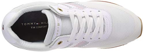 Scarpe Retro Corporate Bianco Donna Ginnastica Basse 100 Hilfiger white Tommy Da Sneaker IwRHxq