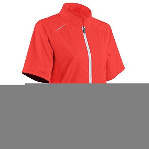 (Sun Mountain Women's Rainflex Shortsleeve Golf Jacket - Coral-White (Large))