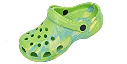 New Toddler\'s Green Tie Dye Garden Shoes Clog Sandals Size 8