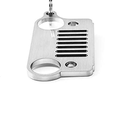 Early Bus 1941 Badge Stainless Steel 7 Grill Key Chain, Keychain, Car Key Keyring for Jeep Motros (Silver 1): Automotive
