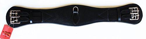 h Padded Leather Soft Black Dressage Girth 28
