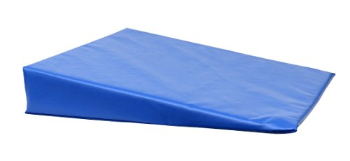 "CanDo 31-2000S Positioning Wedge, Foam with Vinyl Cover, Soft, 20"" x 22"" x 4"", Royal Blue"