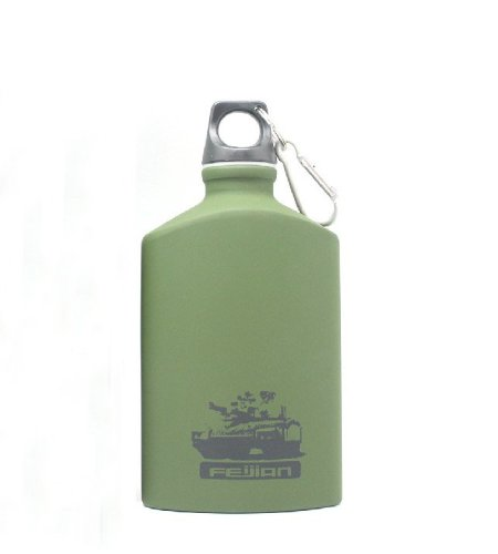 Military Stainless Steel Water Bottle (Army Green) by rtfujrtuj