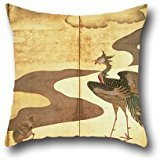 [20 X 20 Inches / 50 By 50 Cm Oil Painting Kano Tan'yu - Phoenixes By Paulownia Trees Cushion Covers ,each Side Ornament And Gift To Gf,him,valentine,drawing Room,club,kids] (Phoenix Costume Diy)