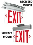 Adjustable Edge Lit Exit Sign with Red Letters