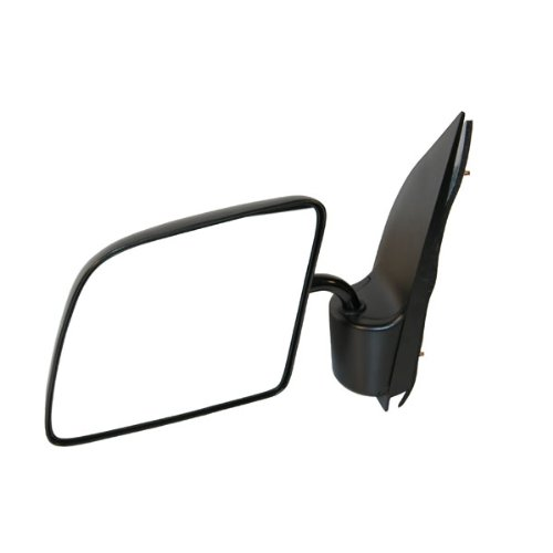 1992-2006 Ford Econoline Van E150, E250, E350 Manual Black Textured (Goose Neck Style) Folding Rear View Mirror Left Driver Side (1992 92 1993 93 1994 94 1995 95 1996 96 1997 97 1998 98 1999 99 2000 00 2001 01 2002 02 2003 03 2004 04 2005 05 2006 06)