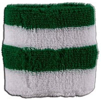 Stripe green white Wristband sweatband Set pieces Estimated Price £6.95 -