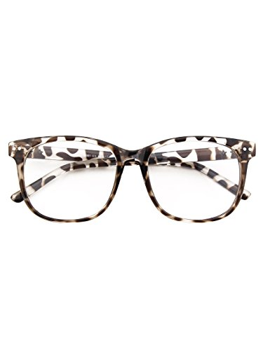 ribeteado PE1 Color GQUEEN gafas gran Bastidor de grandes transparente Tofu de de bocina lente tamaño xHxw6rTzq7