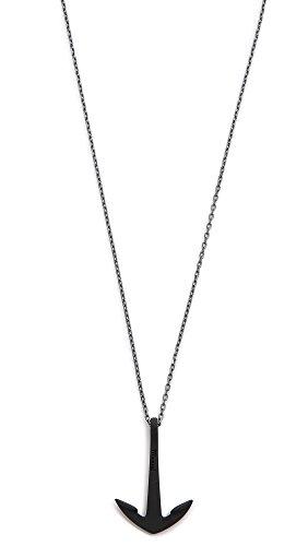 Miansai Men's Anchor Necklace Noir, Oxidized, Black, Silver, One Size ()