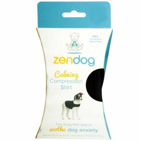 Contech ZenDog Calming Compression Dog Shirt, Medium, Black
