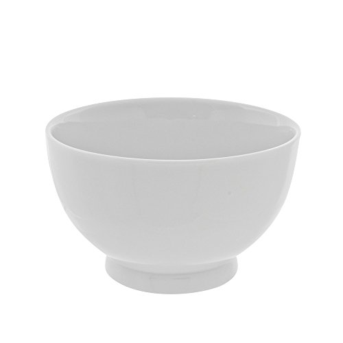 10 Strawberry Street Classic White 18 Oz Footed Rice Bowl, Set of 6, White
