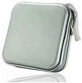 LINSUNG Organizador de Estuches para CD Estuche Billetera Portátil para Viajes de Oficina de automóvil Bolsa de Almacenamiento de 40 Discos CD DVD Silver: Amazon.es: Electrónica