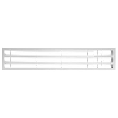 Architectural Grille 100064813 AG10 Series 6'' x 48'' Solid Aluminum Fixed Bar Supply/Return Air Vent Grille, White-Gloss with Door by Architectural Grille