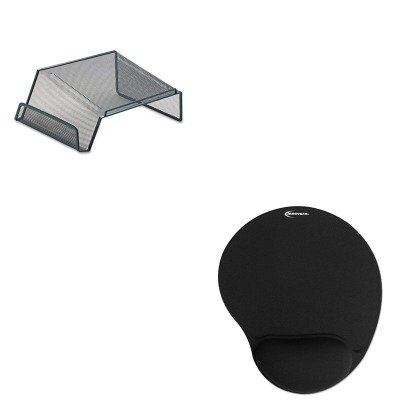 KITIVR50448ROL22151 - Value Kit - Rolodex Mesh Telephone Desk Stand (ROL22151) and Innovera Mouse Pad w/Gel Wrist Pad (IVR50448)