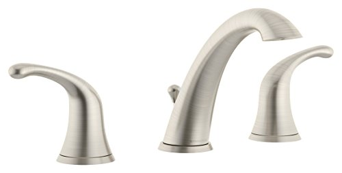 Symmons SLW-6612-STN Unity Widespread 2-Handle Bathroom Faucet with Drain Assembly in Satin Nickel (2.2 GPM)