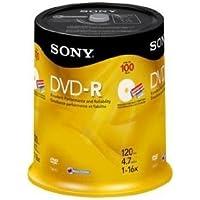 sony 16x 4.7gb Inkjet Printable Blank DVD-r (100-pack Spindle)