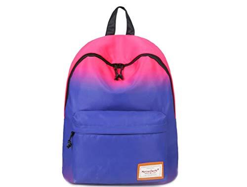 e9f5b40c4a6b8 Werse Mode-Trend Farbverlauf Tasche Nylon Wasserdichte Rucksack
