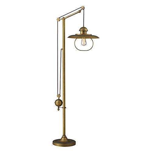 Elk Lighting Floor Lamp - Dimond D2254 15 By 69-Inch Farmhouse 1-Light Floor Lamp, Antique Brass Finish