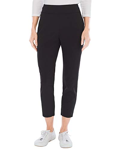 Stretch Knit Crop - Chico's Women's Zenergy Neema Knit-Waist Crops Size 16/18 XL (3) Black