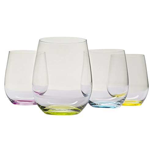 Riedel O Wine Tumbler Happy, Set of 4 (Riedel Pink Wine Glasses)