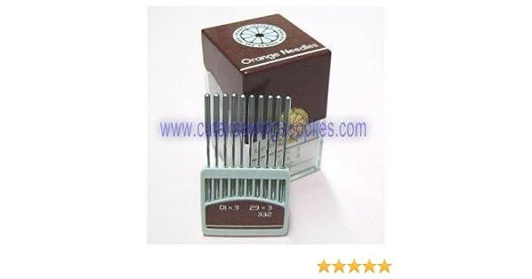 29U SEWING MACHINE NEEDLES ORGAN 29X3 DIX3 DIX1 Size 110 // 18 100 SINGER 29K