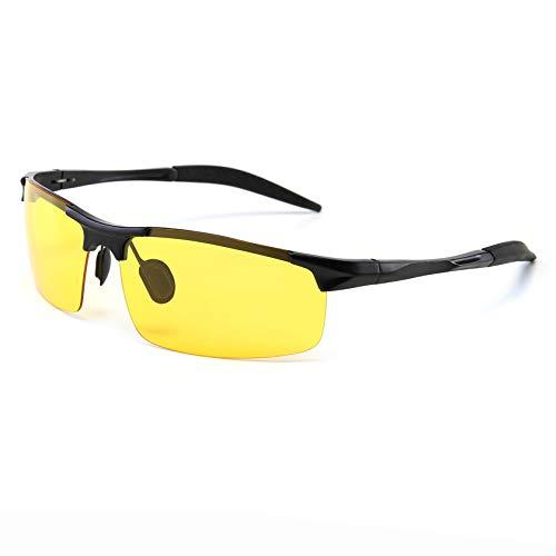 SUNGAIT HD Polarized Anti-Glare Safety Sunglasses for Night Driving UV Protection(Black Frame/Night Lens)8177HEKYS (Best Fly Fishing Glasses)