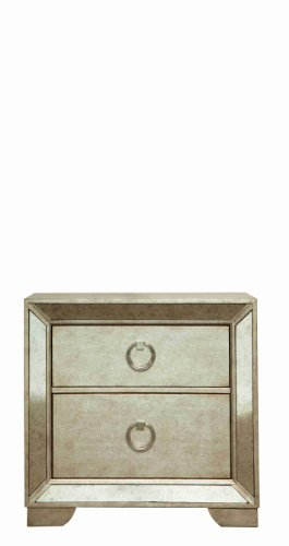 Pulaski Farrah 2 Drawer Nightstand in Gold