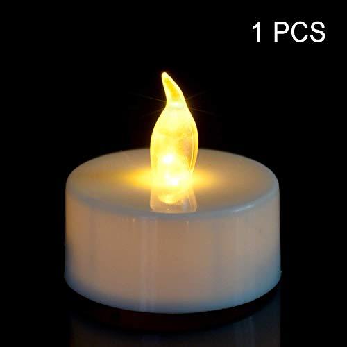 (Antizer Tea Lights Flameless LED Tea Light Candles (Warm Yellow - 1 Pack))