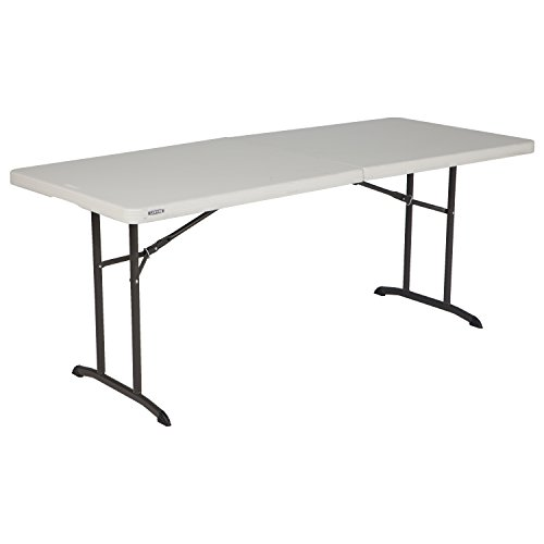 rcial Fold-In-Half Table, 6-foot, Almond ()