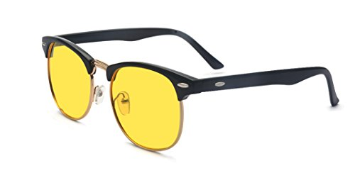 - Outray Vintage Half Frame Night Vision Polarized Sunglasses 2135c6 Yellow Lens