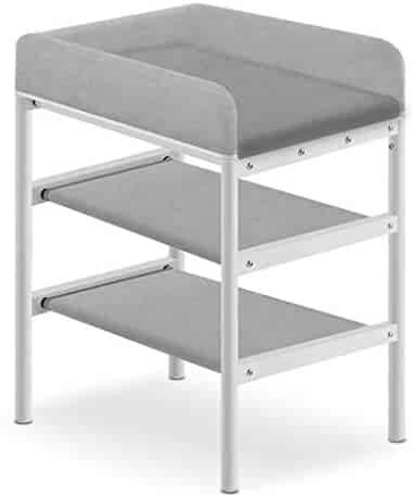 Safety 2 in 1 Infant Changing Table Baby Bath Tub Unit Rolling Station Portable Nursery Diaper Massage Station Storage Dresser for Household Travel Best Choice (Color : A)