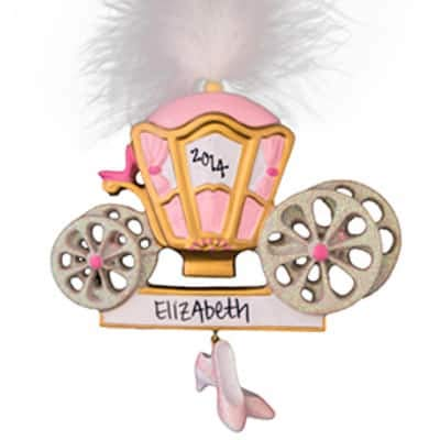 (Princess Cinderella Carriage Personalized Ornament - (Unique Christmas Tree Ornament - Classic Decor for A Holiday Party - Custom Decorations for Family Kids Baby Military Sports Or Pets))