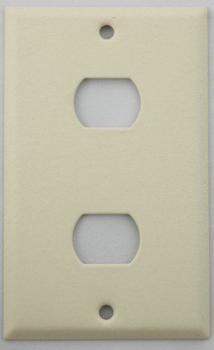 Ivory Wrinkle One Gang Wall Plate for Two Despard (Steel Despard Wall Plate)