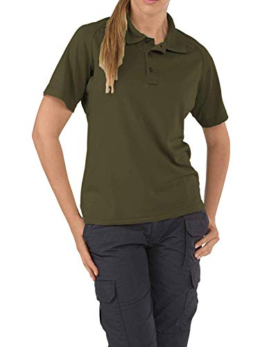 (5.11 Tactical Women's Polyester Fabric Performance Short Sleeves Polo Shirt, Style 61165)