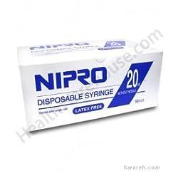 Nipro 20cc Syringe Luer Lock 50 Per Box