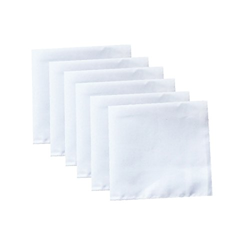Drawn Cotton - Solid White Cotton Hankderchiefs for DIY Drawn Embroidery Party 28 Square